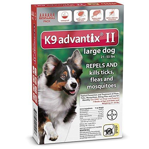 K9 Advantix II Flea Treatment for Dogs 21-55 Pounds Image
