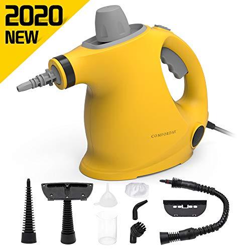Comforday Multi-Purpose Handheld Pressurized Steam Cleaner with 9-Piece Accessories Best Steamer